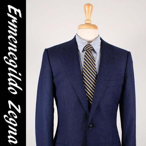 c712c52d81 Zegna 48/38R Blue Sport Coat Jacket 35-E